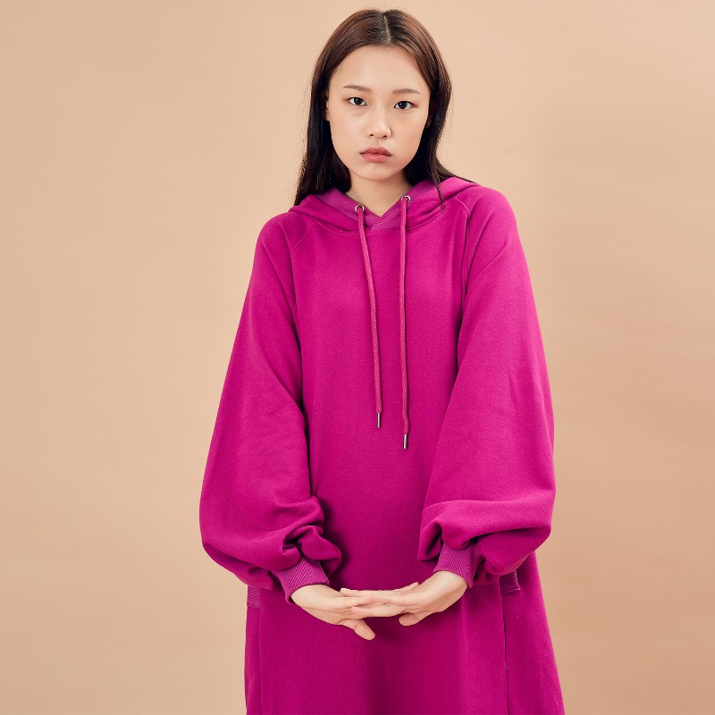 2019 F/W [EX.9F0T007-0] Dress Hoodie - Reddish Purple