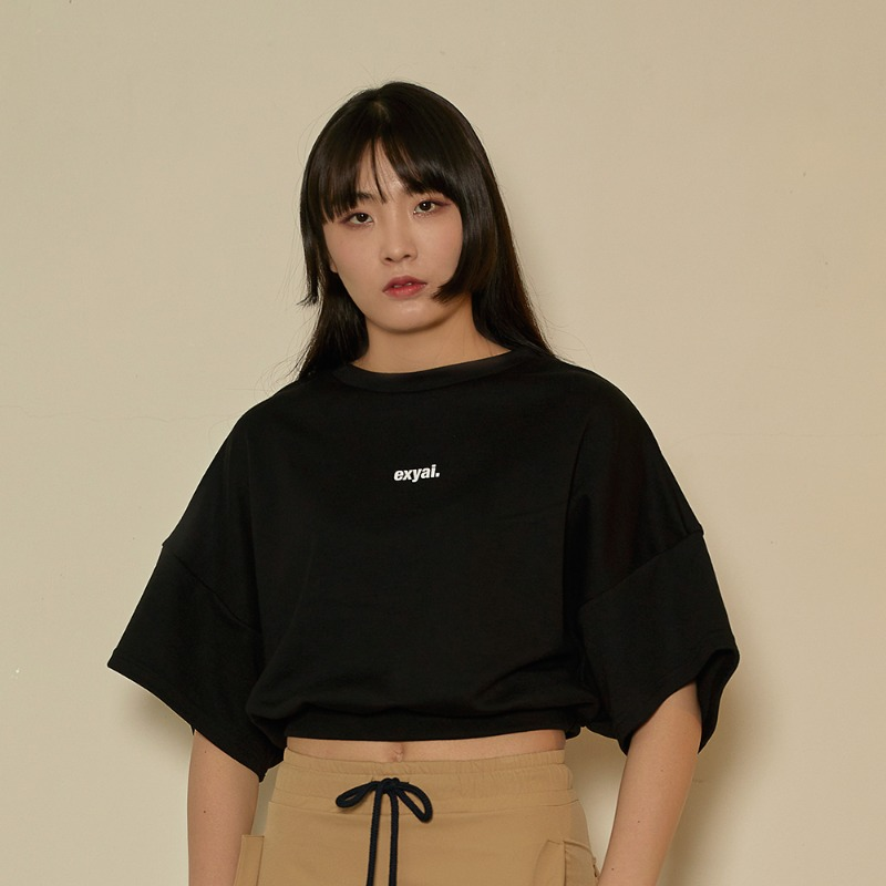 2020 S/S [EX.0S0T003-0] Signature Crop T-Shirt - Black