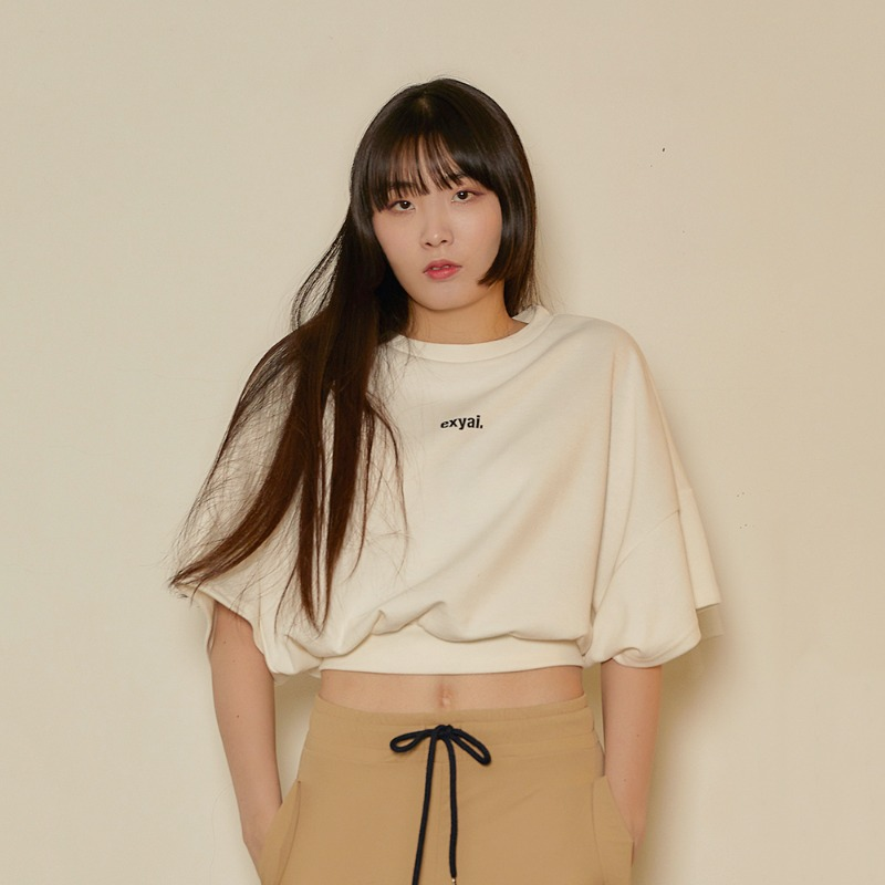 2020 S/S [EX.0S0T003-0] Signature Crop T-Shirt - Ivory