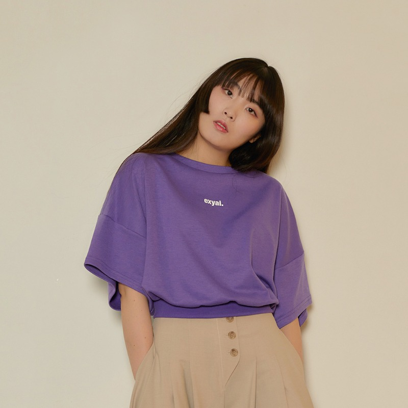 2020 S/S [EX.0S0T003-0] Signature Crop T-Shirt - Purple